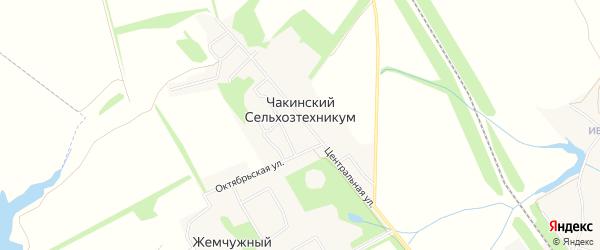 Карта поселка Чакинский сельхозтехникума в Тамбовской области с улицами и номерами домов