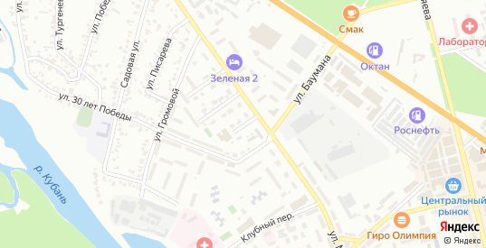 Зеленый переулок в Невинномысске с номерами домов на карте. Спутник и схема онлайн