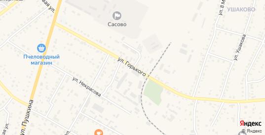 Улица Горького в Сасово с номерами домов на карте. Спутник и схема онлайн
