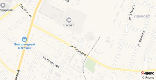 Улица Электрификации в Сасово с номерами домов на карте. Спутник и схема онлайн