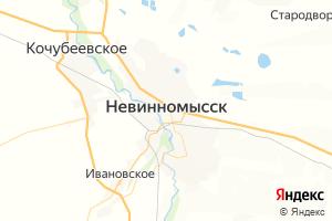Карта г. Невинномысск Ставропольский край
