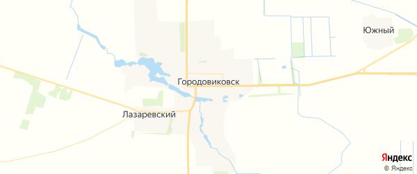 Карта Городовиковска с районами, улицами и номерами домов