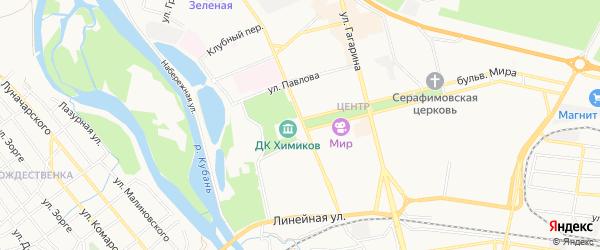 Садовое товарищество Садовод на карте Невинномысска с номерами домов