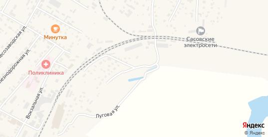 Луговая улица в Сасово с номерами домов на карте. Спутник и схема онлайн