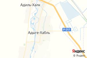 Карта а. Адыге-Хабль Карачаево-Черкесская Республика