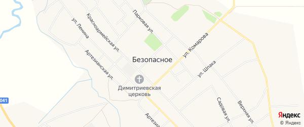 Карта Безопасного села в Ставропольском крае с улицами и номерами домов
