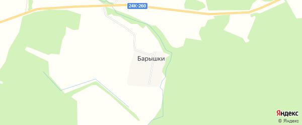 Карта деревни Барышки в Ивановской области с улицами и номерами домов