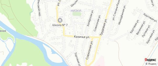 Казачья улица на карте Невинномысска с номерами домов