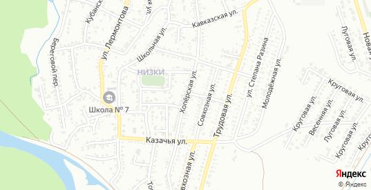 Хоперская улица в Невинномысске с номерами домов на карте. Спутник и схема онлайн