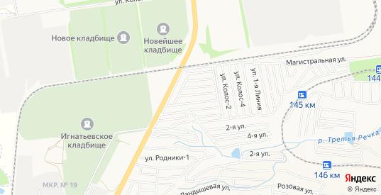 Карта территории сдт Калина Красная в Ставрополе с улицами, домами и почтовыми отделениями со спутника онлайн