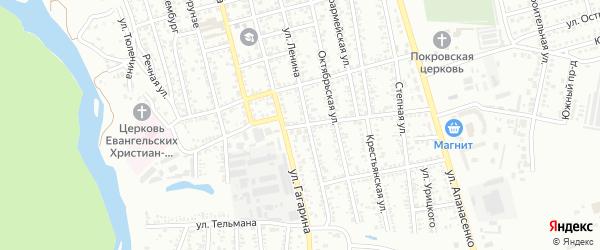 Больничный переулок на карте Невинномысска с номерами домов