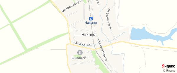 Карта поселка Чакино в Тамбовской области с улицами и номерами домов
