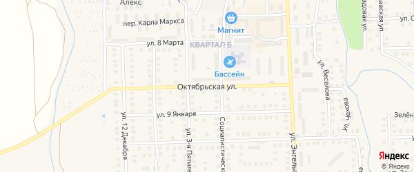 Октябрьская улица на карте Наволок с номерами домов