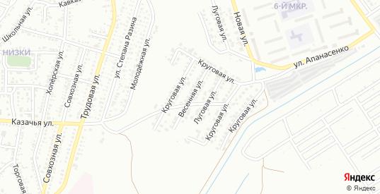 Весенняя улица в Невинномысске с номерами домов на карте. Спутник и схема онлайн