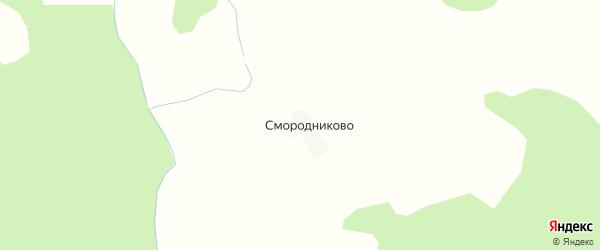 Карта деревни Смородниково в Костромской области с улицами и номерами домов