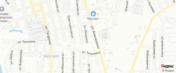 Переулок Чернышевского на карте Невинномысска с номерами домов