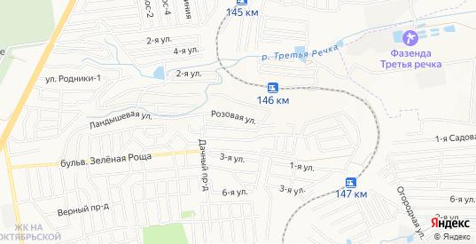 Карта территории ДНТ Ягодка в Ставрополе с улицами, домами и почтовыми отделениями со спутника онлайн