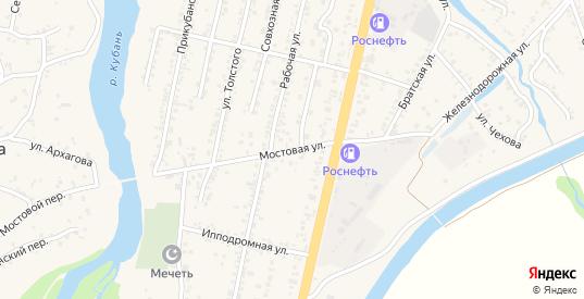 Мостовая улица в Усть-Джегуте с номерами домов на карте. Спутник и схема онлайн