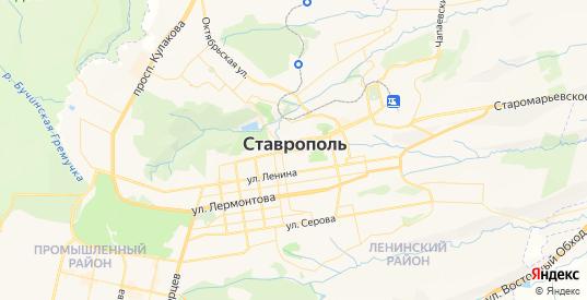 Карта Ставрополя с улицами и домами подробная - показать