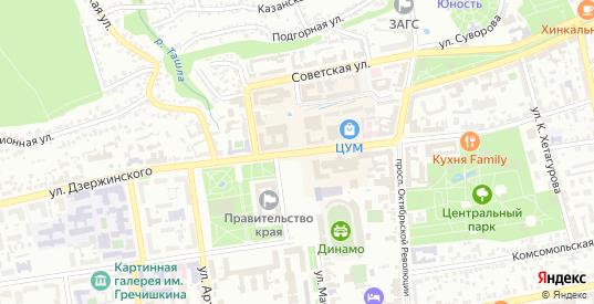 Улица Автоприцеп-16 в территории ДНТ Автоприцеп в Ставрополе с номерами домов на карте. Спутник и схема онлайн