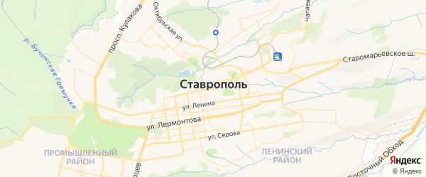 Карта Ставрополя с районами, улицами и номерами домов: Ставрополь на карте России