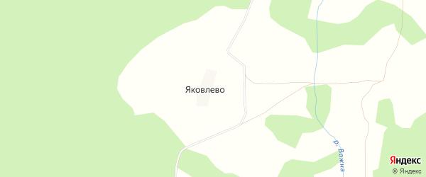 Карта деревни Яковлево в Костромской области с улицами и номерами домов