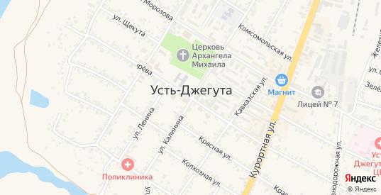 Цветочная улица в Усть-Джегуте с номерами домов на карте. Спутник и схема онлайн