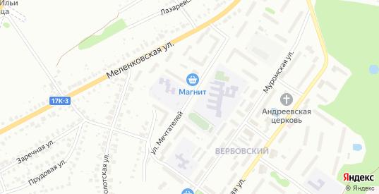 Улица Мечтателей в Муроме с номерами домов на карте. Спутник и схема онлайн