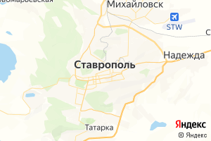 Карта г. Ставрополь Ставропольский край