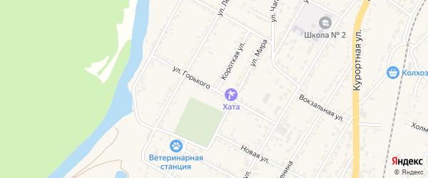 Улица Горького на карте Усть-Джегуты с номерами домов