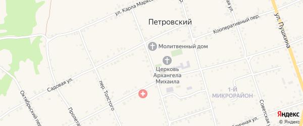 Почтовый переулок на карте Петровского хутора Волгоградской области с номерами домов