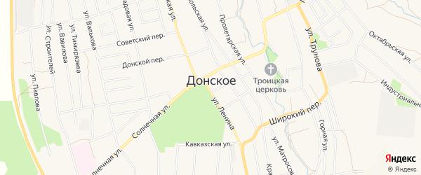 Карта Донского села в Ставропольском крае с улицами и номерами домов
