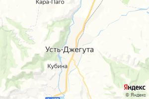 Карта г. Усть-Джегута Карачаево-Черкесская Республика