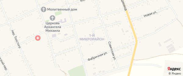 Улица Микрорайон N 1 на карте Петровского хутора Волгоградской области с номерами домов