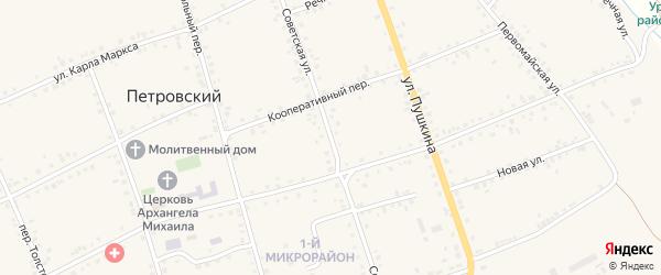 Советская улица на карте Петровского хутора Волгоградской области с номерами домов