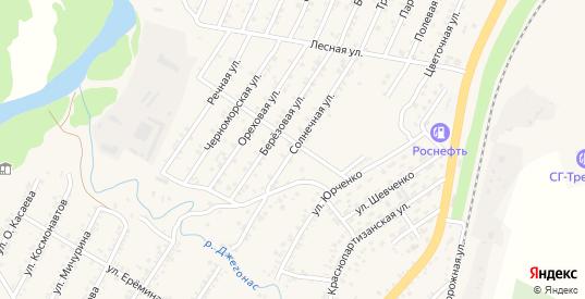 Солнечная улица в Усть-Джегуте с номерами домов на карте. Спутник и схема онлайн