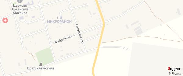 Водстроевская улица на карте Петровского хутора Волгоградской области с номерами домов