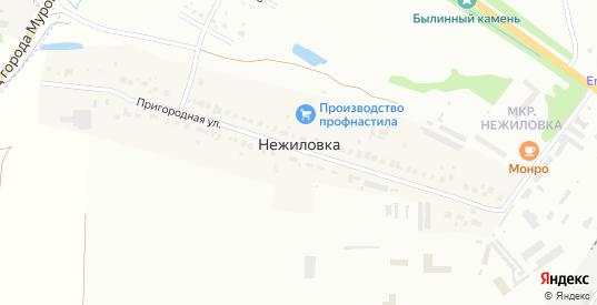 Микрорайон Нежиловка в Муроме с номерами домов на карте. Спутник и схема онлайн