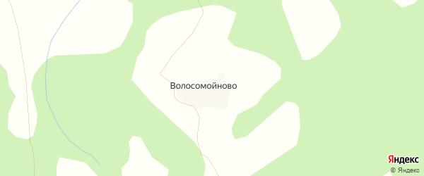 Карта деревни Волосомойново в Костромской области с улицами и номерами домов