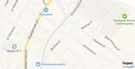 1-я Веселая улица в Усть-Джегуте с номерами домов на карте. Спутник и схема онлайн