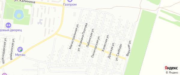 Лабинская улица на карте Невинномысска с номерами домов