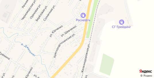 Заводская улица в Усть-Джегуте с номерами домов на карте. Спутник и схема онлайн