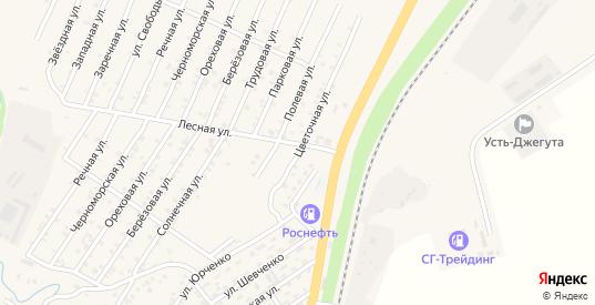 Восточный переулок в Усть-Джегуте с номерами домов на карте. Спутник и схема онлайн