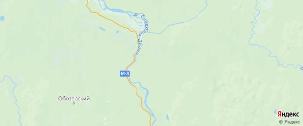Карта Холмогорского района Архангельской области с населенными пунктами и городами