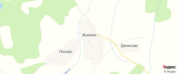 Карта села Жилино в Костромской области с улицами и номерами домов