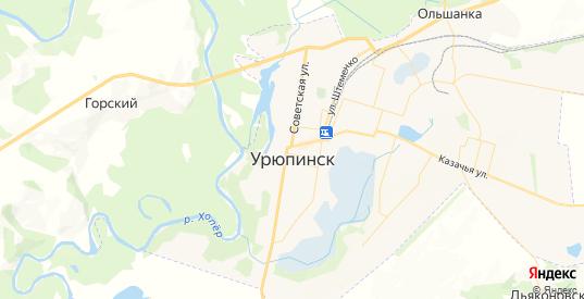Карта Урюпинска с улицами и домами подробная. Показать со спутника номера домов онлайн