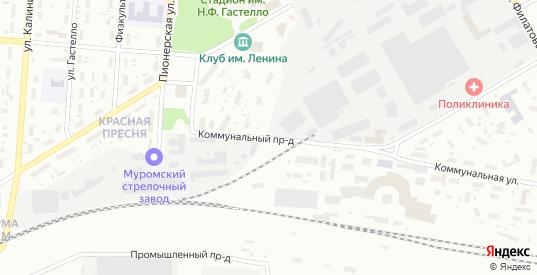 Коммунальный проезд в Муроме с номерами домов на карте. Спутник и схема онлайн
