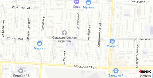 Улица Расковой в Муроме с номерами домов на карте. Спутник и схема онлайн