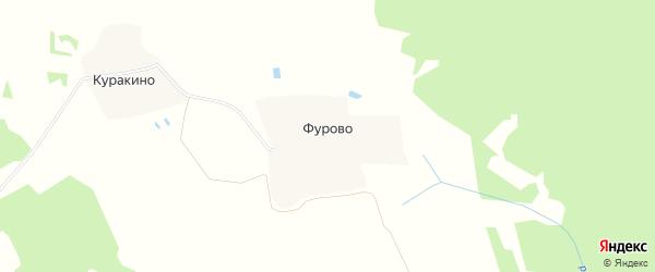 Карта деревни Фурово в Ивановской области с улицами и номерами домов