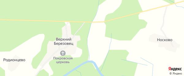 Карта деревни Горки в Костромской области с улицами и номерами домов